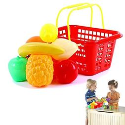 Gift | Dazzling Toys Pretend Play Fruit Set with Shopping Ba