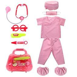 Kid's Scrubs fedio Doctor Role Play Costume Dress up Set w