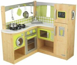 KidKraft New Limited Edition Wooden Lime Green Corner Kitche