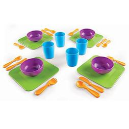 Learning Resources New Sprouts Serve It! Dish Set, 24 Pieces