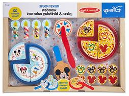 Melissa Doug Mickey Mouse Wooden Pizza And