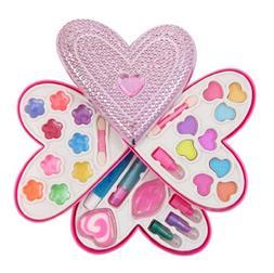 Petite Girls Heart Shaped Cosmetics Play Set - Fashion Makeu