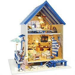 Rylai 3D Puzzles Wooden Handmade Miniature Dollhouse DIY Kit