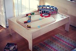 Sodura Birch Wood Kids Train Table