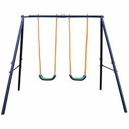 a frame metal swing set toys games
