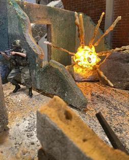 Action Figure Diorama Explosion Display Environment, Grenade