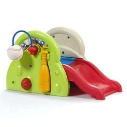 Activity Center Playset Kids Plastic Folding Slide Toddler F