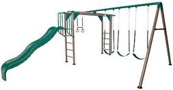 Lifetime Adventure Swing Set Monkey Bars Slide Gym Rings Lad