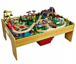 KidKraft Adventure Town Railway Train Set & Table with Ez Kr