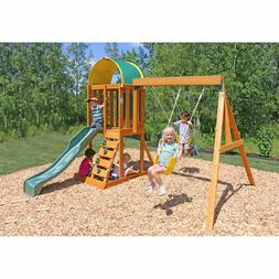 KidKraft Ainsley Wooden Swing Play Set Multi Level Child Tod