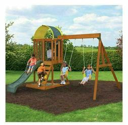 KidKraft Ainsley Wooden Swing Play Set Multi-Level Child Tod