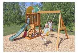 KidKraft Ainsley Wooden Swing Play Set Multi-Level Child Tod