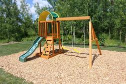 KidKraft Ainsley Wooden Swing Set Large Big Wood For Kids Be
