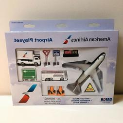 """Airport Play Set American Airlines """"New* 12 Pieces RT1661"""