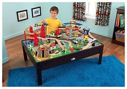100 Piece Airport Train Table Set, Toy, Train Tables, Wood,