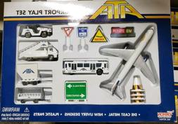 ATA Airlines Airport Play Set 12 Pc Die Cast by Dardon New O