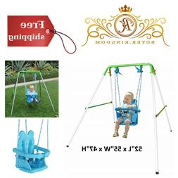Baby Toddler Sturdy First Swing Set With Safety Harness Indo