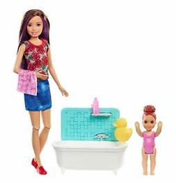 Barbie Babysitter Playset, Brown Hair