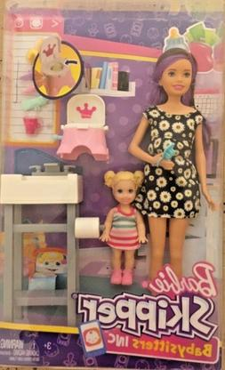 Barbie Babysitters Playset and Skipper Doll and baby Potty T