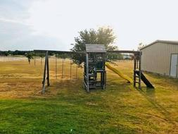 Backyard Cedar Wooden Swing Playground Kids Playset Wood Swi
