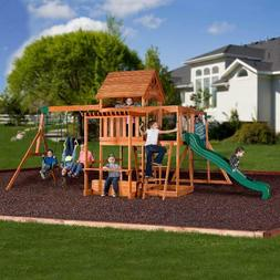 Backyard Discovery Monticello Cedar Swing Set