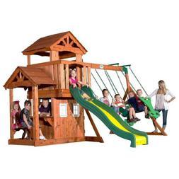 Backyard Discovery Tanglewood All Cedar Wood Playset Swing S
