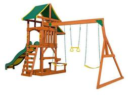 BACKYARD DISCOVERY Tucson Cedar Wooden Swing Playground Kids