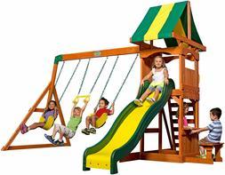 ackyard Discovery Weston All Cedar Wood Playset Swing Set