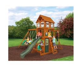 Backyard Playground Set No Maintenance Swingset Large Wooden
