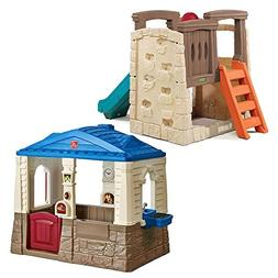 Step2 Backyard Playset Combo for Kids - Durable Cottage Play