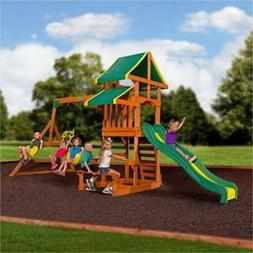 Backyard Swing Set Tucson Cedar Wooden Outdoor Playground Pl