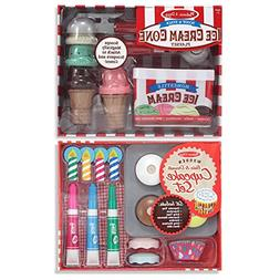 Melissa & Doug Bake & Decorate Cupcake Set and Scoop & Stack
