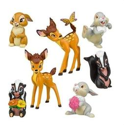 bambi thumper flower playset 7 figure cake
