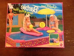 BARBIE 1991 SPRAY & PLAY POOL AND PLAYSET SET MIB VERY RARE