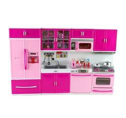 Barbie 4 Piece Modern Kitchen Set for diorama play ooak ligh
