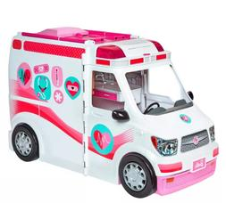 Barbie Ambulance Care Clinic Vehicle Girls Toys Doll Car Sou