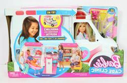 Barbie Care Clinic Playset Ambulance Hospital Vehicle Fun Ac
