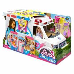 Barbie® CARE CLINIC Vehicle Ambulance and Hospital Playset
