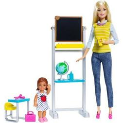 Barbie Career Teacher and Student Playset Doll  & 2 OUTFITS.