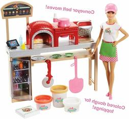 Barbie Careers Pizza Making Chef Cooking Doll and Playset
