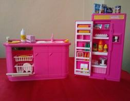Barbie Doll Kitchen Play Set.