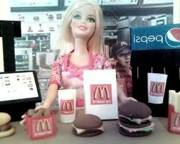 Barbie Doll Sized McDonald's Restaurant Play Set Toy