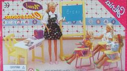 Gloria Dollhouse Furniture for Barbie Dolls - Classroom with