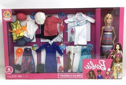 Barbie Dream Careers Set, Doll + 6 Career Outfits, Chef-Chem