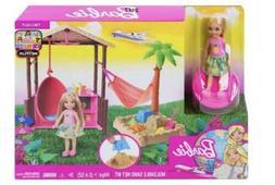 Barbie Dreamhouse Chelsea Tiki Hut Playset W/Moldable Sand