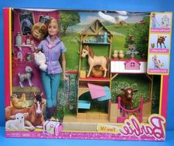 Barbie Farm Vet Doll & Playset