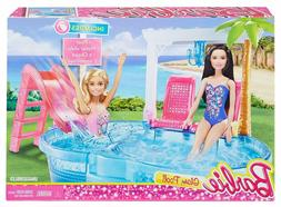 Barbie Glam Pool & Slide Playset Mattel 2016