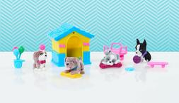 Barbie Great Puppy Adventure Pet Playset Blue Dog House Dog