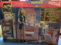 Barbie Kitchen Playset  Folding Pretty House Fridge Stove Di
