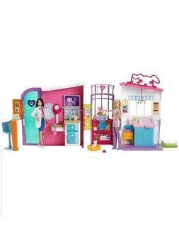 Barbie Pet Care Center Playset~Bonus Barbie Pets 12pc Vet Ho